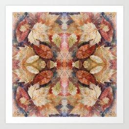 Leaf Mandala no 8 Kunstdrucke