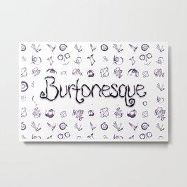 Burtonesque Pattern Metal Print