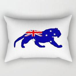 Australian Flag - Tiger Rectangular Pillow