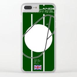 Brooklands Racetrack Clear iPhone Case