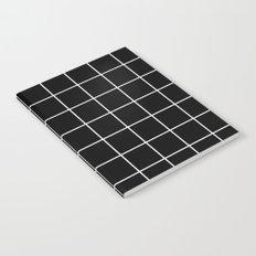 Black Grid  Notebook
