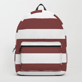 Brandy - solid color - white stripes pattern Backpack