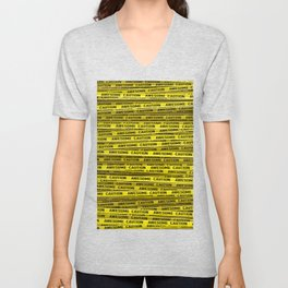 AWESOME, use caution / 3D render of awesome warning tape Unisex V-Neck