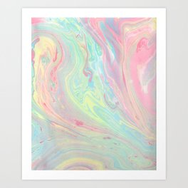 maybe marble Art Print