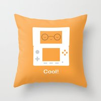 nintendo Throw Pillows featuring Nintendo 3DS by Anth Rodi