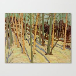 Tom Thomson Snow in the Woods (II) c. 1915 Canadian Landscape Artist Canvas Print