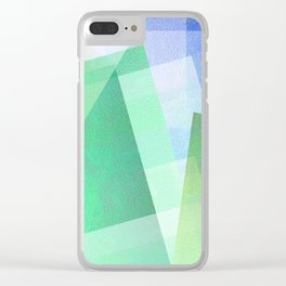 Whacky Style - Digital Geometric Texture Clear iPhone Case