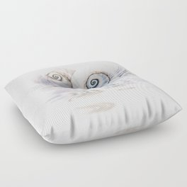Snail Shells On Water Floor Pillow