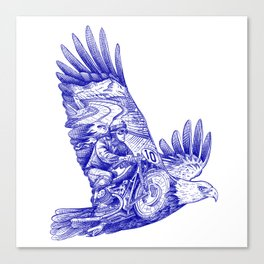 Eagle Rider Canvas Print