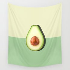 Avocado Half Slice, Tropical Fruit Wall Tapestry
