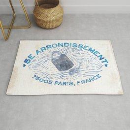 5E Arrondissement-Love Lock Bridge-Paris Rug
