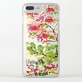 Blossoms at Notre Dame Clear iPhone Case