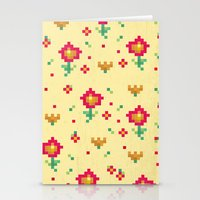 pixel Stationery Cards featuring Pixel by Kakel