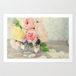 Still Life English Roses Art Print