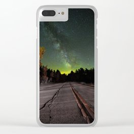 Northern Lights (Color) Clear iPhone Case