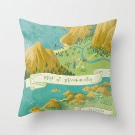 Moominvalley Map Interpretation (1/3) Throw Pillow