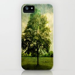 The Textured Tree  iPhone Case