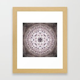 MAUVE MANDALA Framed Art Print