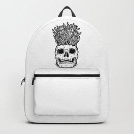 Flower on Skull Vase Backpack