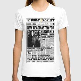 "Daily Prophet ""NEW Head Master, Severus Snape"" T-shirt"