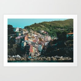 Colored Houses of Italy Art Print
