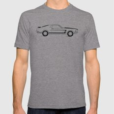 Mustang Boss Mens Fitted Tee Tri-Grey 2X-LARGE