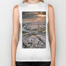 Paris from the air Biker Tank
