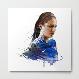Alex Morgan Art Metal Print