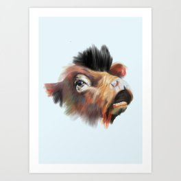 Crazy Cow Art Print