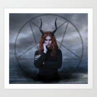satan Art Prints featuring satan by tadzioautumn