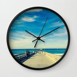 Pier Blue Wall Clock