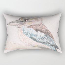 Australian Cute Looking Bird the Kookaburra Circle Design Rectangular Pillow