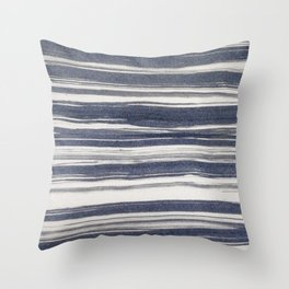 Brush stroke stripes Throw Pillow