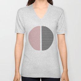 Minimalist Abstract Unisex V-Neck