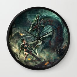 Face a Dragon Wall Clock