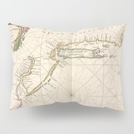 Vintage Map of New Netherland (1672) Pillow Sham