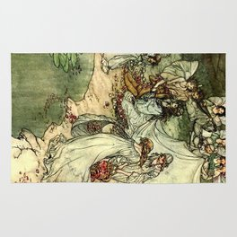 """Titania"" by Arthur Rackham From Shakespeare Rug"