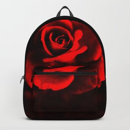 Red rose on red Backpack