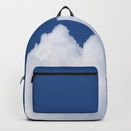 Semi-cloudy Day - Fluffy White Cumulus On The Blue Sky #decor #society6 #buyart Backpack