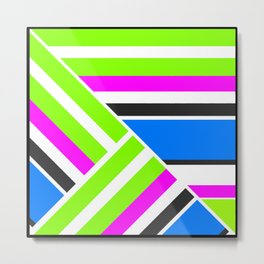 Geometric pattern, Striped triangles 3 Metal Print