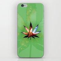 marijuana iPhone & iPod Skins featuring Marijuana Leaf - Design 1 by Spooky Dooky