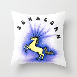 Sexacorn Throw Pillow