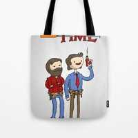 tool Tote Bags featuring tool time. by dann matthews