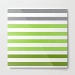 Stripes Gradient - Green Metal Print