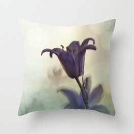 Bluebell in early evening light Throw Pillow