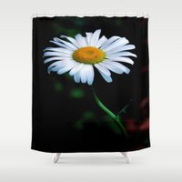 jewish Shower Curtains featuring A daisy a day keeps the blues away by Brown Eyed Lady