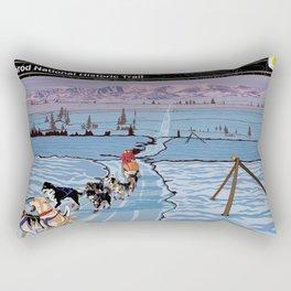 Vintage Poster - Iditarod National Historic Trail, Alaska (2018) Rectangular Pillow