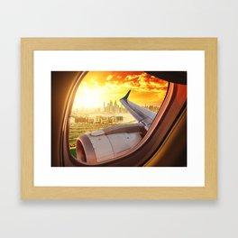 dubai from the airplane Framed Art Print