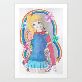 Rainbow Brite- inspired Art Print