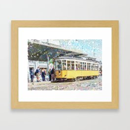 San Francisco Muni F Car at Embarcadero Station by Mark Gould Framed Art Print
